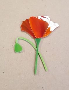 PRECUT STAINED GLASS ART POPPY FLOWER KIT MOSAIC INLAY CRAFT GARDEN STONE | eBay