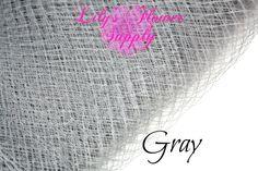 Russian Veil  Birdcage Veil Netting  Gray  1 by LilysFlowerSupply, $3.00