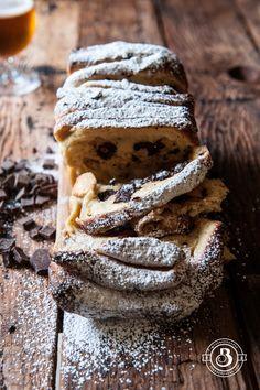 Chocolate Belgian Ale Brioche Pull Apart Breakfast Loaf