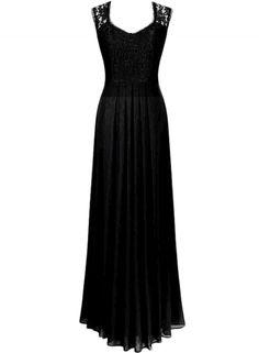 Women's Chic Lace Paneled V Neck Slim Fit Dress - OASAP.com