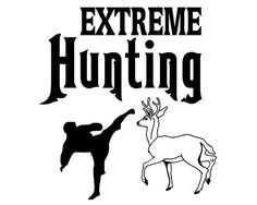 Funning Hunting Decal  Extreme Hunting by StickermaniaDecals, $4.00