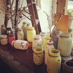 FAT Paint'ed mason jars at Brick & Mortar Living, Begbie Street, New Westminster