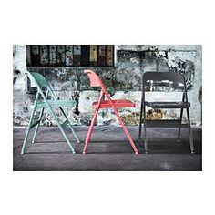 IKEA - ฟรูดเด, เก้าอี้พับ, พับเก็บสะดวก ไม่เปลืองพื้นที่เมื่อไม่ใช้งานที่นั่งโค้งกับพนักพิงโอบรับแผ่นหลัง ช่วยให้คุณนั่งสบายยิ่งขึ้น
