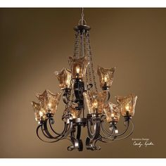 Uttermost Vetraio 9 Light Oil Rubbed Bronze Chandelier 21005