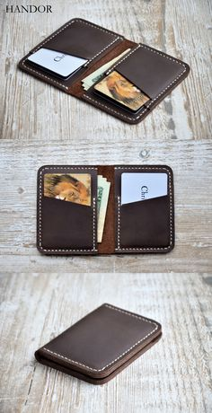 #wallet #leather #mens Wallets for men - Front Pocket Design - Minimalist Handmade Leather Credit Credit Card Wallet, leather wallets, handmade leather