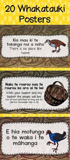 Posters that are downloadable for $5  www.teacherspayteachers.com/Product/Maori-Whakatauki-Maori-Proverbs-2767314