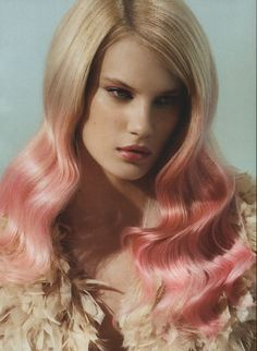 okay .... so let it be done!!   Blonde to pink ombre hair