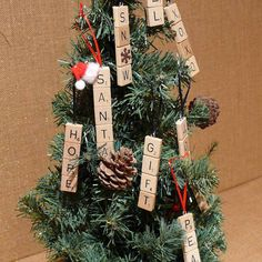 Scrabble Letter Christmas Tree Ornaments by SnowmanCollector
