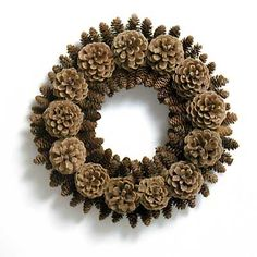 another gorgeous pine cone wreath