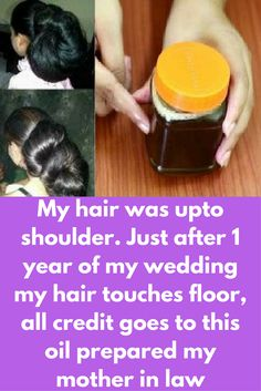 My hair was upto shoulder. Just after 1 year of my wedding my hair touches floor, all credit goes to this oil prepared my mother in law My hair was upto shoulder. Just after 1 year of my wedding my ha Hair Remedies For Growth, Hair Growth Treatment, Hair Growth Tips, Natural Hair Growth, Hair Treatments, Natural Treatments, Natural Beauty Tips, Hair Health, Hair Oil