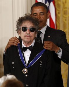 Image result for bob dylan medal obama