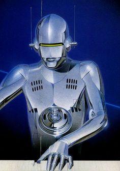 We have lots of new exciting content coming today. Art by Hajime Sorayama via New Retro Wave, Retro Waves, Robot Girl, Science Fiction Art, Pulp Fiction, Futuristic Art, Airbrush Art, Cyberpunk Art, Sci Fi Art