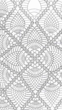 """Best 12 Crochet Pineapple Square – """"This large square – 12 inches in No 30 cotton has many uses. Make mats, incidental doilies. If you use string, you'll get a 16 inch square – quickly made scarfs 16 x 32 or 16 x 48 inches that will delight you"""". Crochet Tablecloth Pattern, Crochet Bedspread Pattern, Crochet Square Patterns, Crochet Cushions, Crochet Diagram, Basic Crochet Stitches, Crochet Chart, Crochet Squares, Crochet Motif"""