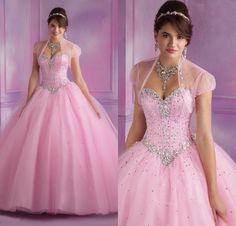 vestido de 15 años rosa cuarzo - Buscar con Google