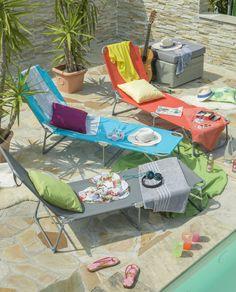 #Lesen, #Musikhören, #Sonnetanken: Auf diesen #Liegen ist das Leben gleich dreimal so bunt.
