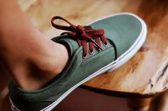 Forest Green & Red Accent | Men's Fashion