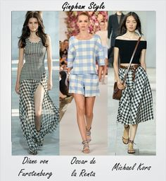 #Gingham is currently the number 1 print for #SS15. Check out more trends seen at #NYFW by following this link: http://socksnbirkenstocks.blogspot.com/2014/09/nyfw-trend-alert.html #TRENDALERT