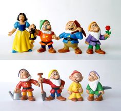 8 x 80s Disney Snow White and the Seven Dwarfs by BambiRobotShop