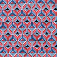 Great geometric pattern and play of color. Rockport Outdoor Fabric #serenaandlily