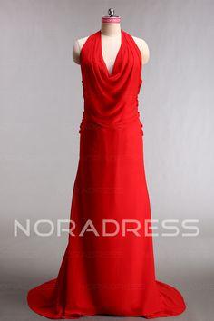 04057a45543 Reisverschluss Arbeit Keine Taille A-Linie Ärmellos Abendkleid Aus Chiffon  - Noradress Chiffon