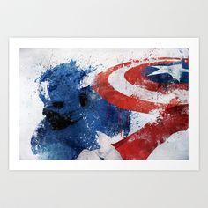 Captain America Art Print by Melissa Smith - $16.00