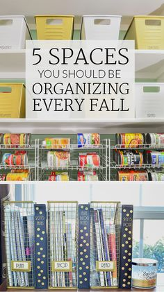 These 5 spaces should be on your organizing to do list every fall. If you tackle them now, you'l have less stress throughout the rest of the year!