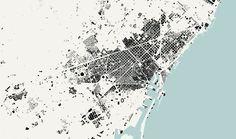 Barcelona Nolli map, 1:50.000