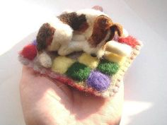 needle felted wire fox terrier, via Flickr.