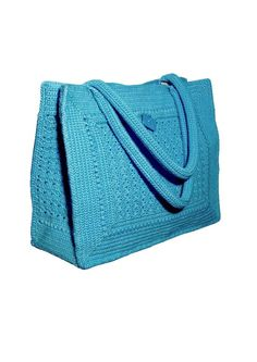 Crochet Bag Pattern  Summer blue with 3 by PdfPatternDesign, €5.00