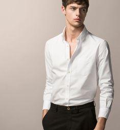Best White Shirt, White Shirt Men, Men Shirt, White Shirts, Smart Casual Outfit, Men Casual, Formal Shirts, Casual Shirts, Mens Fashion Wear