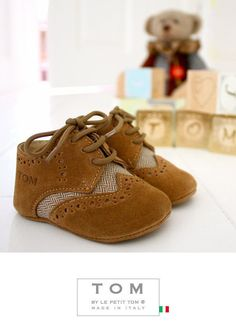 TOM by Le Petit Tom ® LITTLE OXFORDS  14tom brown/herringbone - DOLLY by Le Petit Tom ®