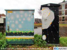 kunstkast engelien en jakobien van der weijden Urban Street Art, Box Art, Holland, Painting, Seeds, Shop Signs, Dutch Netherlands, Painting Art, Netherlands