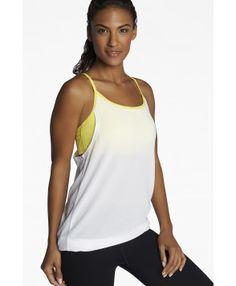 e2896f7003 Fabletics Tanks Norwalk Tank Womens White/Yellow Yoga Capris, Yoga Pants, Yoga  Tops