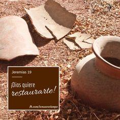 #RPSP ¿Te sientes quebrado/a? Muchas veces Dios nos quiebra como a una vasija para restaurarnos a Su imagen. ¿Quieres restauración? Escribe
