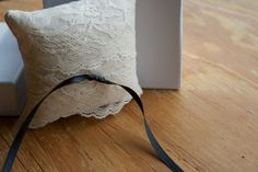   Ivory & Lace, ring-bearer pillow  