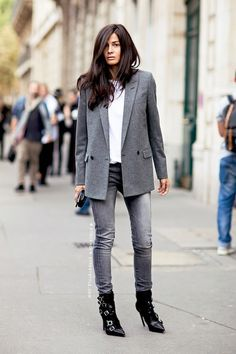 Street Style: How To Master An Edgy Grey-On-Grey Look