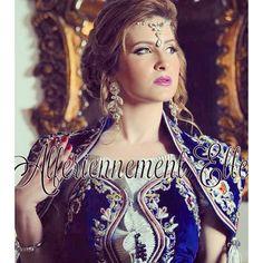 Magnifique tenue Algeroise en bleu roi  c'est la chanteuse kenza morsli ! ✨ #beauty #algerie #algeroise