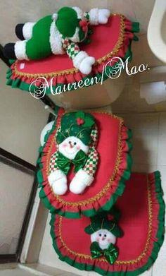 Milena Barros's media content and analytics Diy Christmas Art, Christmas Bathroom, Unique Christmas Decorations, Felt Christmas, Christmas Pictures, Christmas Holidays, Christmas Wreaths, Christmas Ornaments, Holiday Decor
