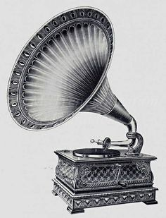 old style gramophone illustration
