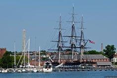 Bunker Hill in Charlestown, Boston, MA