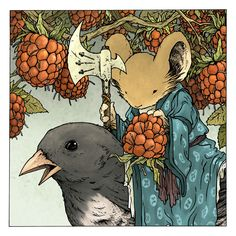 David Petersen/Mouse Guard Limited Edition Raspberry Print