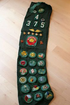 Greater New York Vintage Girl Scout Sash 1970s with Pins and Badges | eBay