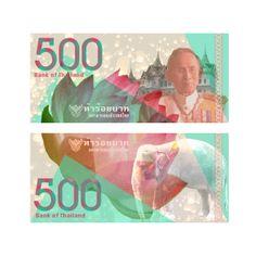 Thailand Currency Design by Ava Finstuen, via Behance