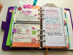 Love her Filofax. It's decorated, but not TOO decorated. Still functional. :)
