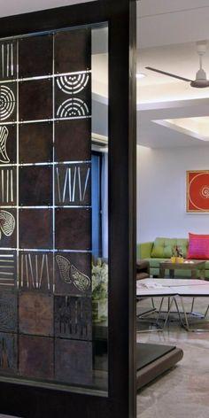 Wooden Screen Door Modern 56 Ideas For 2019 Metal Screen Doors, Wooden Screen Door, Diy Screen Door, Sliding Screen Doors, Screen House, Living Room Partition Design, Room Partition Designs, Wood Partition, Screen Design