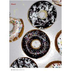 Lemon Poppy Seed Donuts ❤ liked on Polyvore featuring donuts