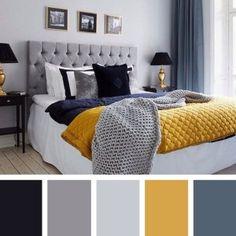 ✔65 beautiful bedroom color schemes ideas 1 » Home Designs House Color Schemes, Bedroom Color Schemes, House Colors, Blue Bedroom Colors, Gray Bedroom, Master Bedroom, Colourful Bedroom, Bedroom Simple, Black Living Room Decor