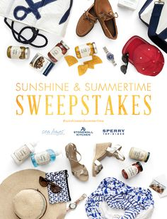 Enter to win this fabulous nautical package from Sea Bags, Stonewall Kitchen and Sperry Top-Sider! #seabags #stonewallkitchen #sperrytopsider #sunshineandsummertime http://seabags.me/W0JfYd