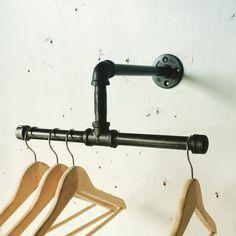 12 Inch Split Industrial Clothing Rack - Display
