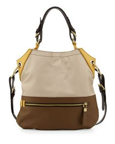 Sydney Colorblock Tote Bag, Natural Multi by Oryany at Neiman Marcus.